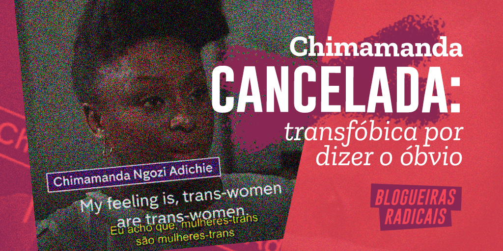 Chimamanda cancelada: transfóbica por dizer o óbvio
